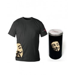 VENDETTA - T-Shirt - Black - Mask - DELUXE EDITION (L) 143805  T-Shirts