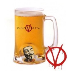 VENDETTA - Beer Stein - Rotating Mask Crystal 143789  Gadgets