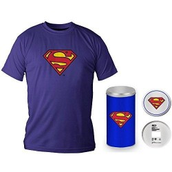 SUPERMAN - T-Shirt - Blue Logo - DELUXE EDITION (XL) 143761  T-Shirts