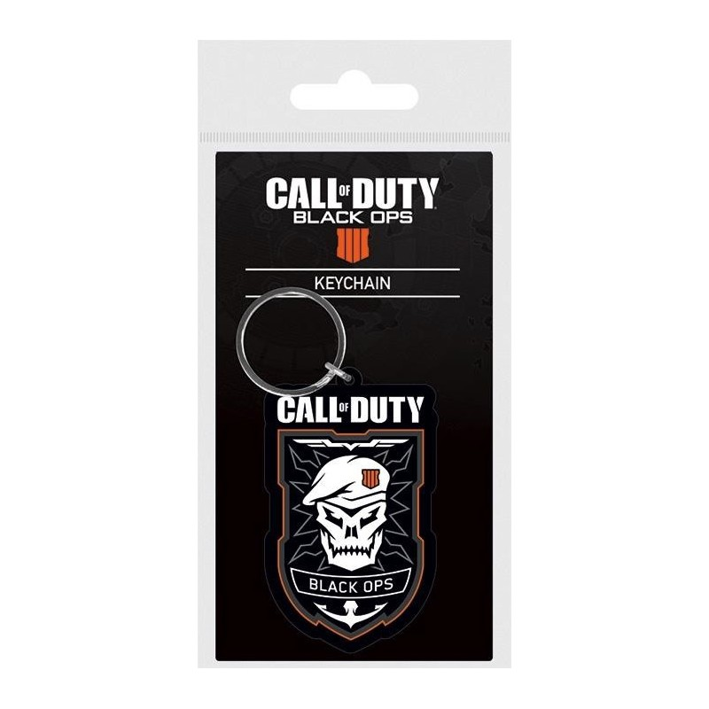 CALL OF DUTY BLACK OPS 4 - Rubber Keychain - Patch 169303  Sleutelhangers