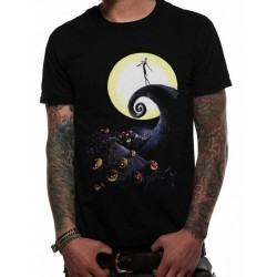 NIGHTMARE BEFORE CHRISTMAS - T-Shirt IN A TUBE- Cemetery (XXL) 169215  T-Shirts Nightmare Before Christmas