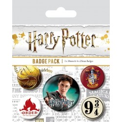 HARRY POTTER - Pack 5 Badges - Gryffindor 169153  Pin & Spelden