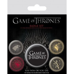 GAME OF THRONES - Pack 5 Badges - The Four Great Houses 169148  Badges