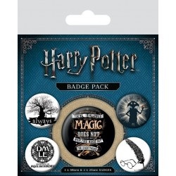 HARRY POTTER - Pack 5 Badges - Symbols 169144  Badges