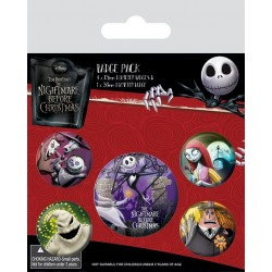 NIGHTMARE BEFORE CHRISTMAS - Pack 5 Badges - Characters 169143  Badges