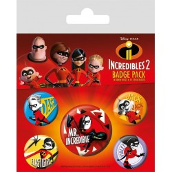INCREDIBLES 2 - Pack 5 Badges - Family 169139  Badges