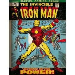 MARVEL COMICS - Canvas 30X40 '18mm' - Iron Man Birth of Power 169099  Ingelijst
