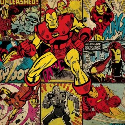 MARVEL COMICS - Canvas 40X40 '18mm' - Iron Man Squares 169090  Ingelijst