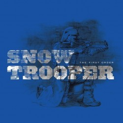 STAR WARS - Canvas 40X40 '18mm' - Episode VII - Snowtrooper Blue 169088  Ingelijst