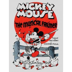 DISNEY - Canvas 60X80 '18mm' - Mickey Mouse The Musical Farmer 169064  Ingelijst