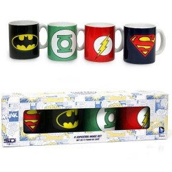 DC COMICS - Set of 4 Espresso Mugs 143220  Drinkbekers - Mugs