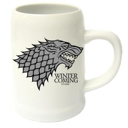GAME OF THRONES - Beer Stein - Winter is Coming Stark Ceramic 143123  Gadgets