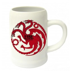 GAME OF THRONES - Beer Stein - Fire and Blood Targaryen Ceramic 143122  Gadgets