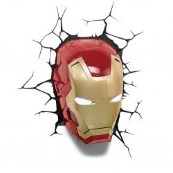 MARVEL - 3D Deco Light - IRON MAN 143012  Deco, Wand, Kamer & Nacht Lampen