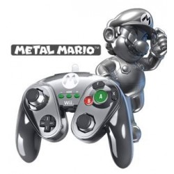 PDP - Nintendo Wired Fight Pad WII U Official GC controller MarioMetal 142983  Nintendo Wii U