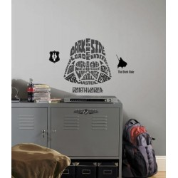 STAR WARS - Wall Decals - Typographic Darth Vader 142968  Muur Stickers