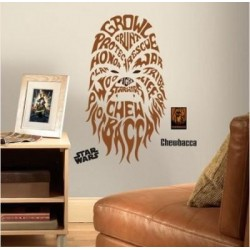 STAR WARS - Wall Decals - Typographic Chebacca 142967  Muur Stickers