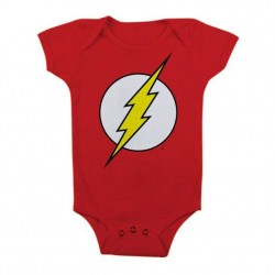 FLASH - Baby Body Logo - Red (6 Month)