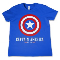 CAPTAIN AMERICA - T-Shirt KIDS Logo Blue (8 Years) 142909  T-Shirts Kinderen