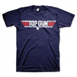 TOP GUN - T-Shirt Distressed Logo - Navy (M) 142883  T Shirts alles