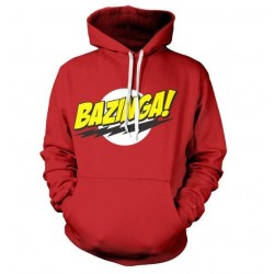THE BIG BANG - Sweatshirt BAZINGA Super Logo - Red (L) 142874  Sweatshirts