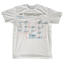 THE BIG BANG - T-Shirt Sheldon Friendship Algorithm - White (XL) 142850  T-Shirts Friends