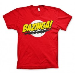 THE BIG BANG - T-Shirt BAZINGA Super Logo - Red (S) 142842  T-Shirts