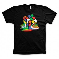RUBIK'S - T-Shirt Melting Ribik's - Black (XXL) 142798  T-Shirts