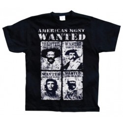 CHE GUEVARA - T-Shirt Americas Most Wanted - Black (M) 142775  T Shirts alles