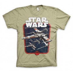 STAR WARS - T-Shirt Red Squadron - Khaki (XL) 142767  T-Shirts