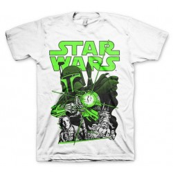 STAR WARS - T-Shirt Vintage Boba Feet - White (XL) 142722  T-Shirts Star Wars