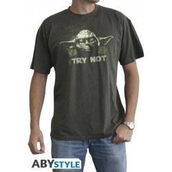 STAR WARS - T-Shirt Yoda Try Not - Kaki (S) 142138  T-Shirts