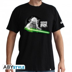 STAR WARS - T-Shirt Yoda Judge me ... - zwart (S)