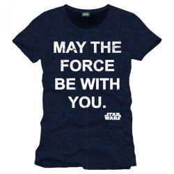 STAR WARS - T-Shirt May the Force Be With You - Marine (XL) 142023  Alles