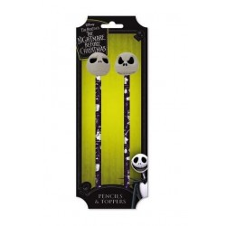NIGHTMARE BEFORE CHRISTMAS - Pencils & Toppers Set - Jack 168925  Pennen