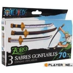 ONE PIECE - Set de 3 Sabres Gonflables - Zoro 141613  Figurines