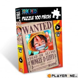 ONE PIECE - Puzzle 100 pces - WANTED Luffy 141609  Puzzels
