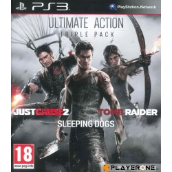 ULTIMATE ACTION Triple Pack (JC2 + Tomb Raider + Sleeping Dogs) 140619  Playstation 3