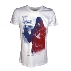 ASSASSIN'S CREED UNITY - T-Shirt White Arno in French Flag (XXL) 140401  T-Shirts Assassin's Creed