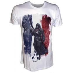 ASSASSIN'S CREED UNITY - T-Shirt White French Flag with Arno (L) 140391  T-Shirts Assassin's Creed