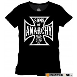SONS OF ANARCHY - T-Shirt Anarchy Cross BLACK (S) 139168  T-Shirts Sons Of Anarchy