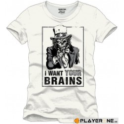 FOR GAMING - T-Shirt WANT YOUR BRAINS - (S) 138726  T-Shirts For Gaming