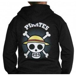 ONE PIECE - SWEAT Skull With Map Homme - Black (S) 138340  Sweatshirts