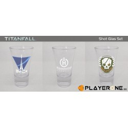 TITAN FALL - Shotglasses - SET OF 3 138002  Glazen