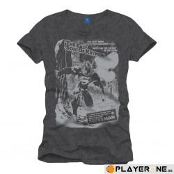 SUPERMAN - T-Shirt Destruction Grey (S) 137466  T-Shirts Superman