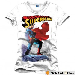 SUPERMAN - T-Shirt Daily Planet wit (S)