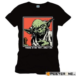 STAR WARS - T-Shirt Yoda Icon zwart (XXL)