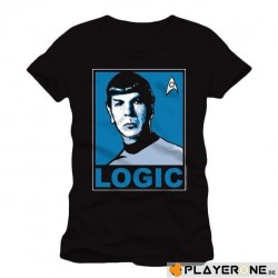 STAR TREK - T-Shirt Logic Black (M) 137401  T-Shirts Star Trek