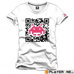 SPACE INVADERS - T-Shirt QR Code White (S) 137034  T Shirts alles