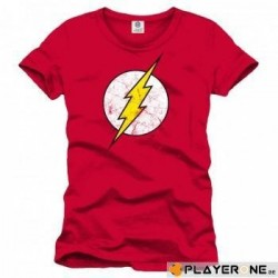 FLASH - T-Shirt Red Flash Cracked Logo (L) 136768  Alles